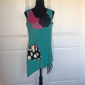 One of a kind handmade tunic top